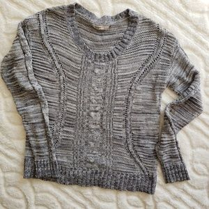 Old Navy Marled Grey Sweater cotton blend